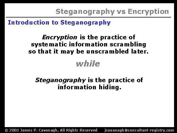 steganography encryption